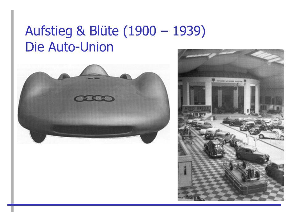 Aufstieg & Blüte (1900 – 1939) Die Auto-Union