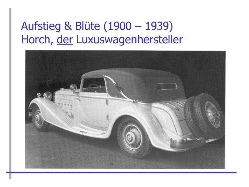 Aufstieg & Blüte (1900 – 1939) Horch, der Luxuswagenhersteller