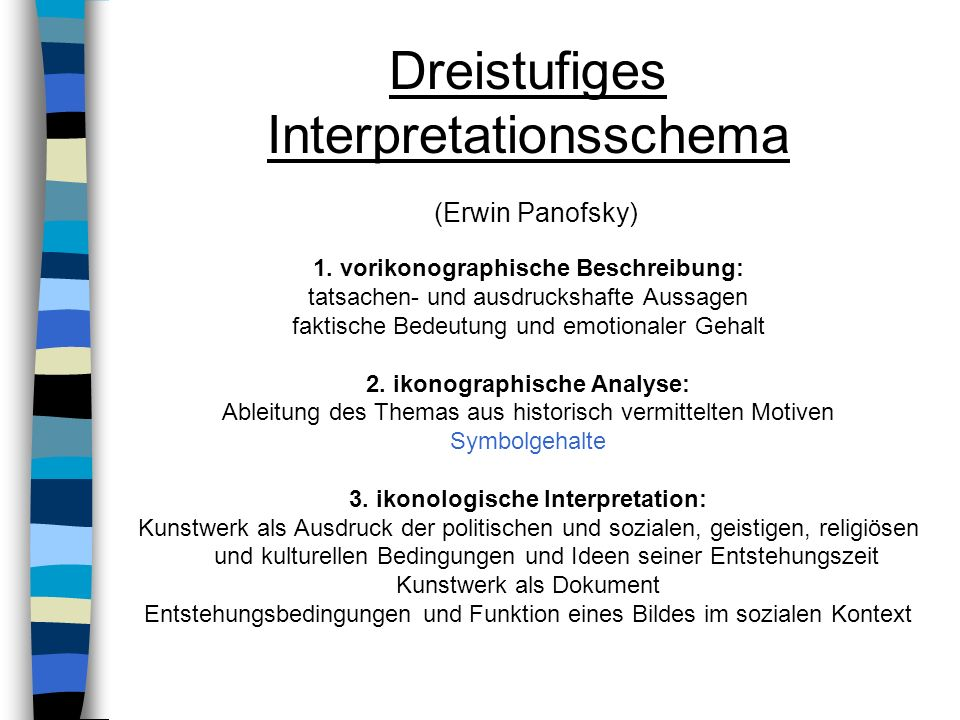 Dreistufiges Interpretationsschema (Erwin Panofsky)
