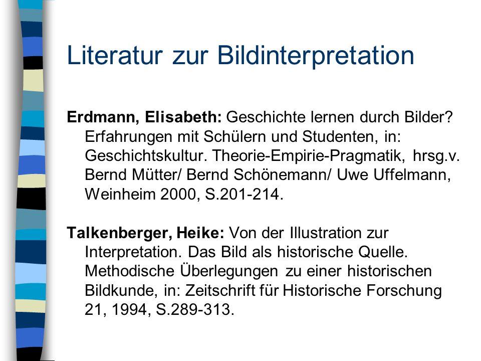 Literatur zur Bildinterpretation