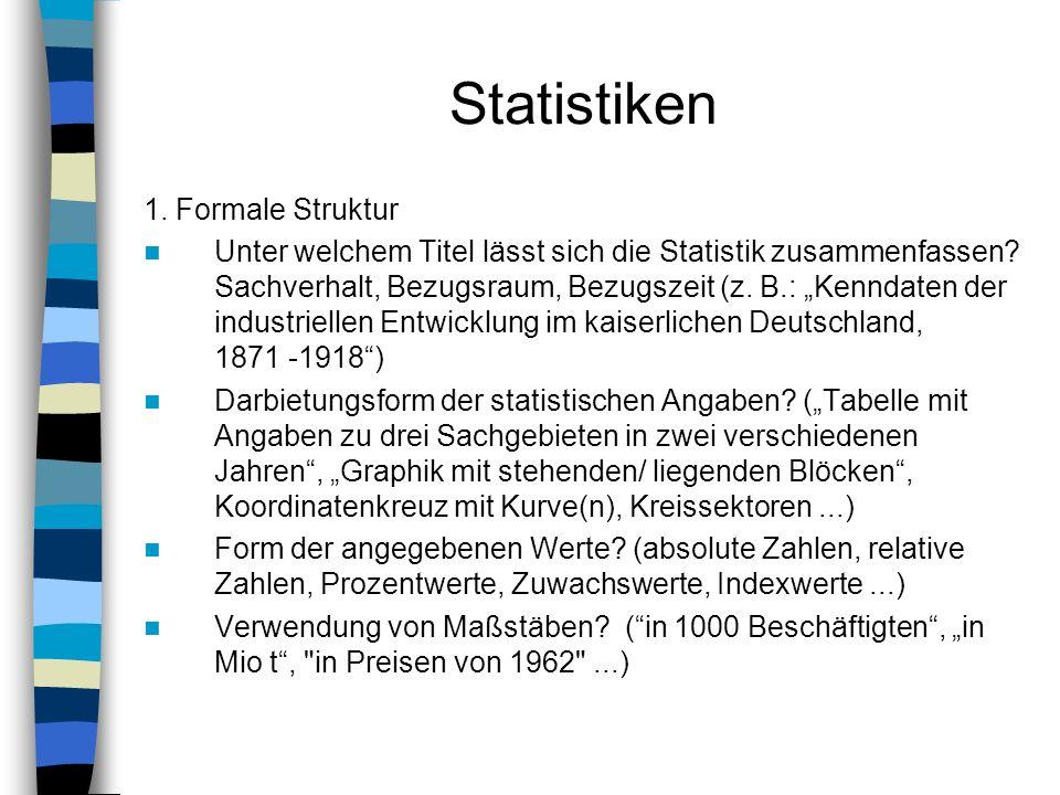 Statistiken 1. Formale Struktur