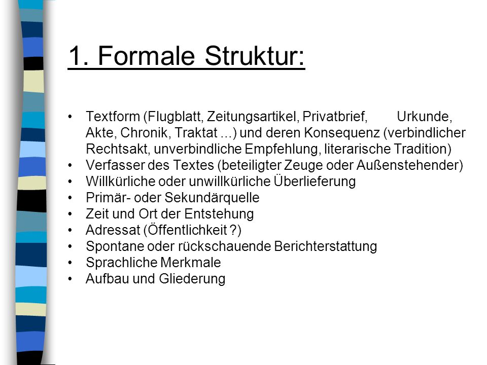 1. Formale Struktur: