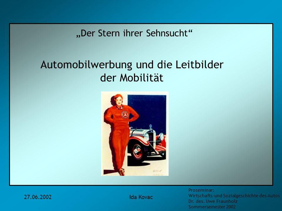 Automobilwerbung und die Leitbilder
