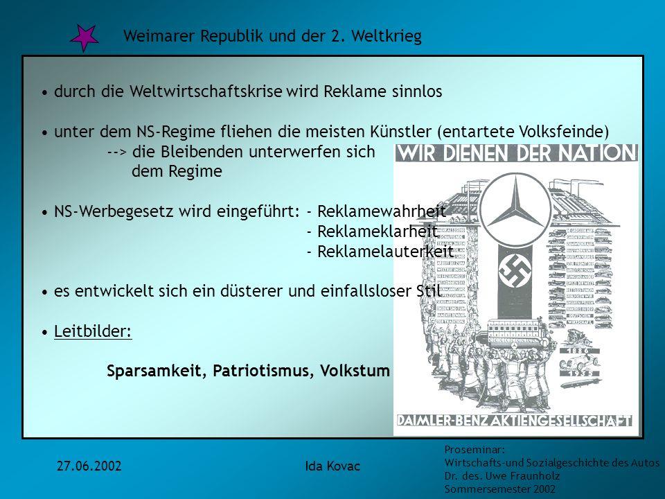 Weimarer Republik und der 2. Weltkrieg