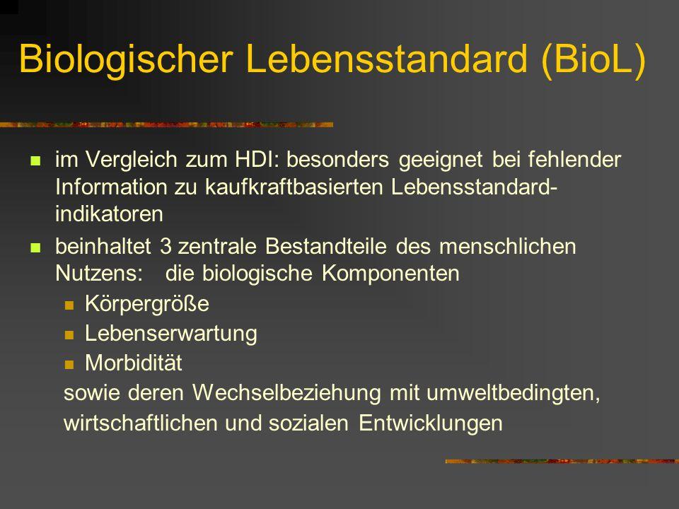 Biologischer Lebensstandard (BioL)