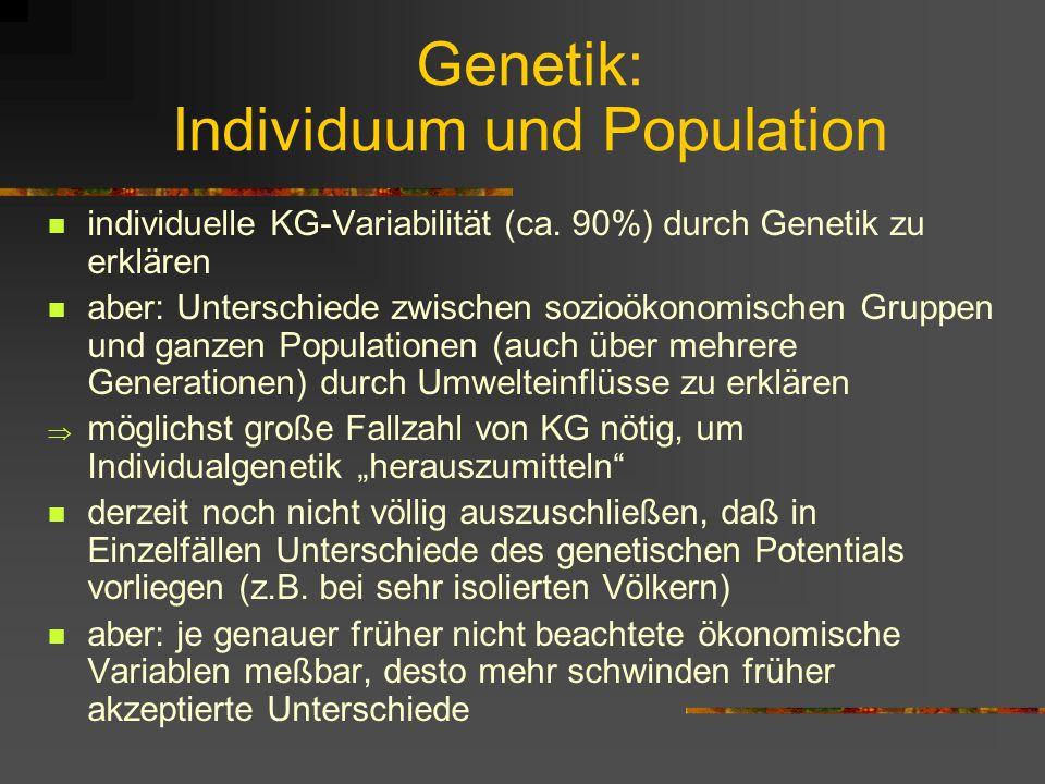Genetik: Individuum und Population