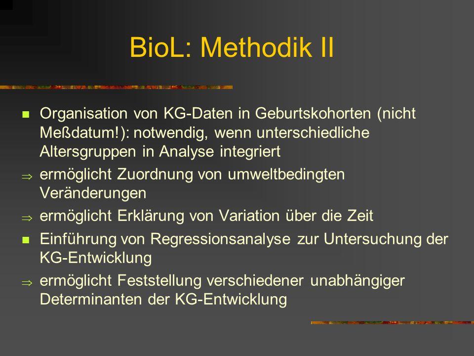 BioL: Methodik II