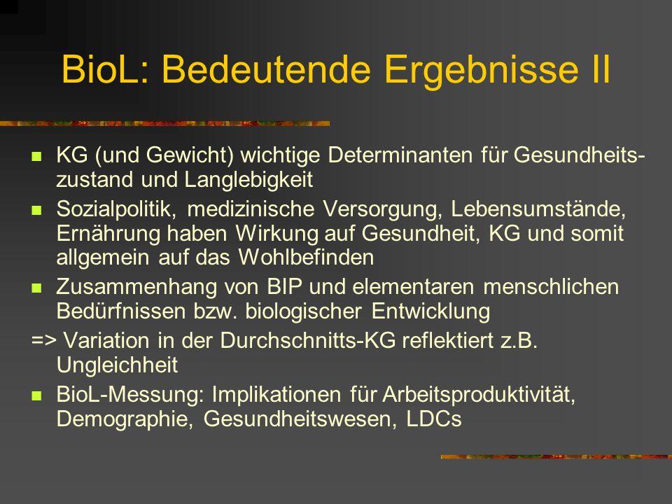 BioL: Bedeutende Ergebnisse II