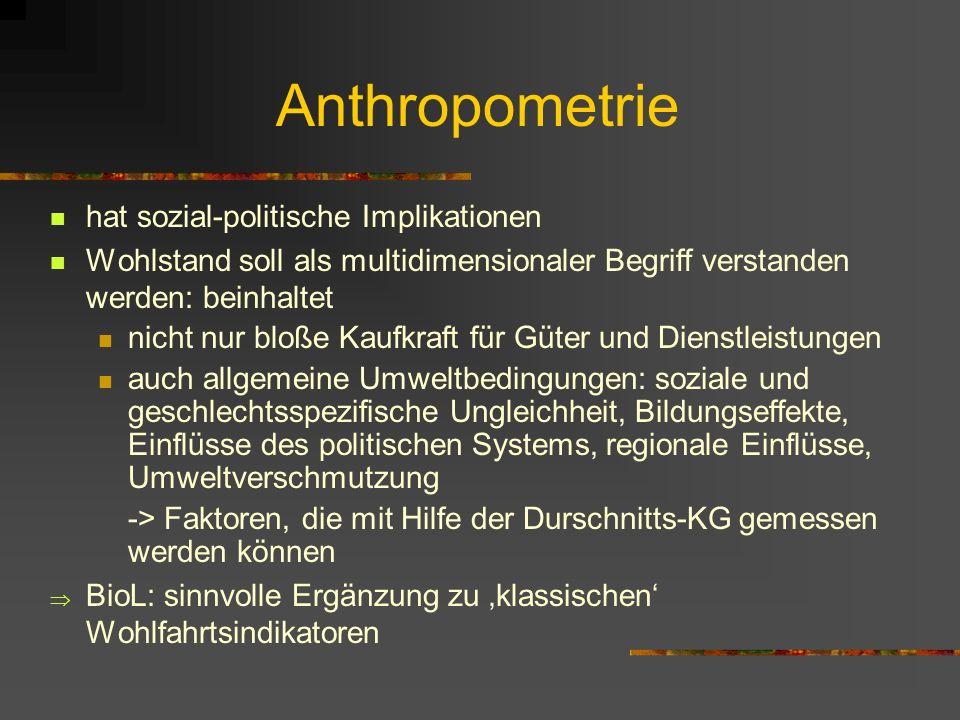 Anthropometrie hat sozial-politische Implikationen