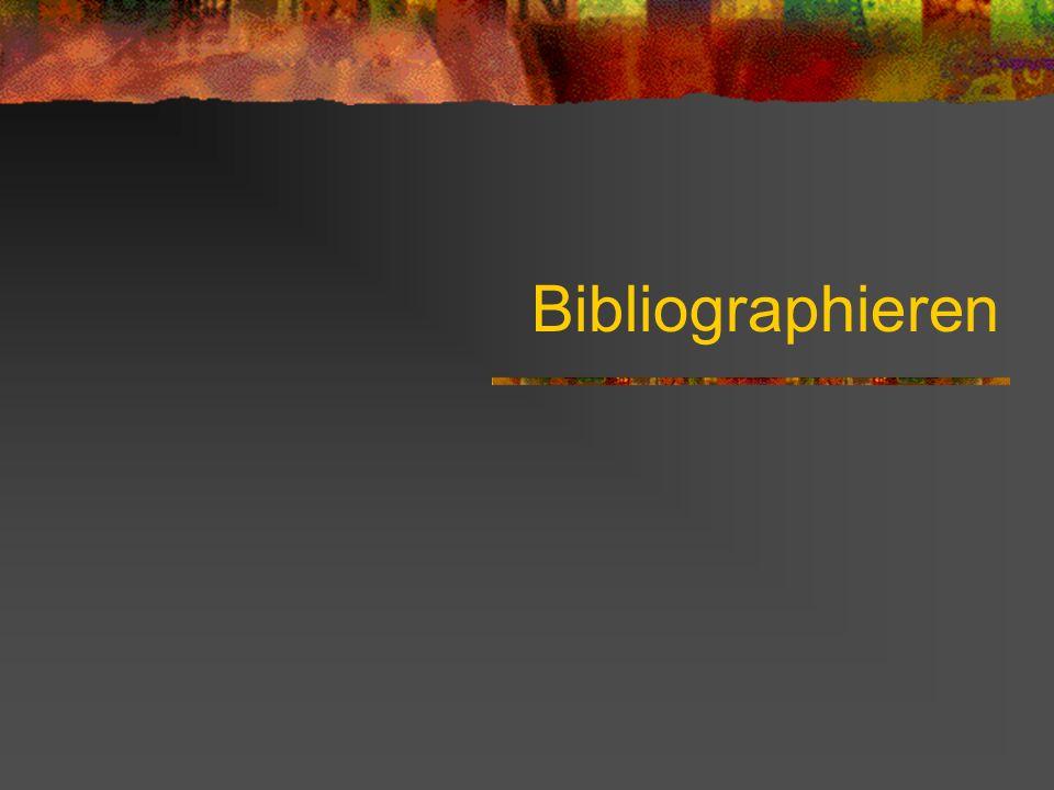 Bibliographieren