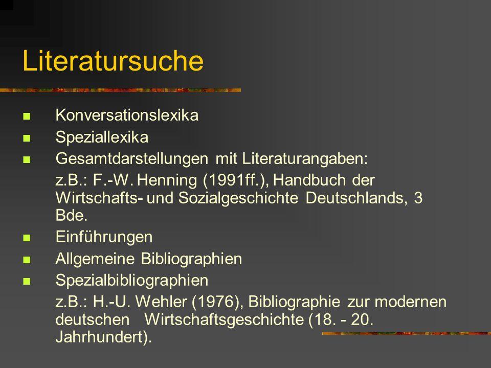 Literatursuche Konversationslexika Speziallexika