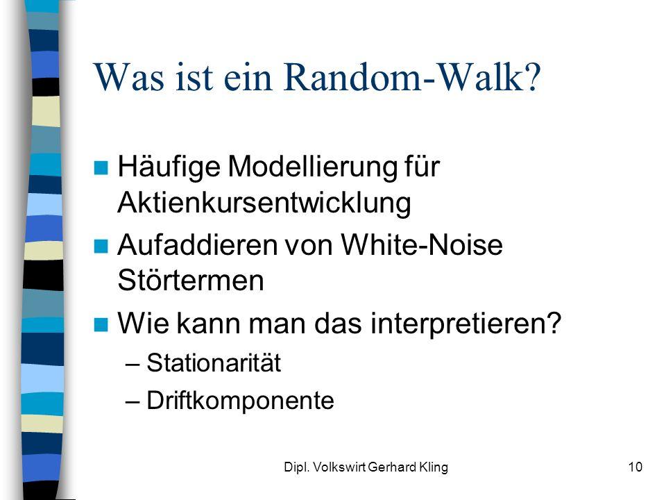 Was ist ein Random-Walk