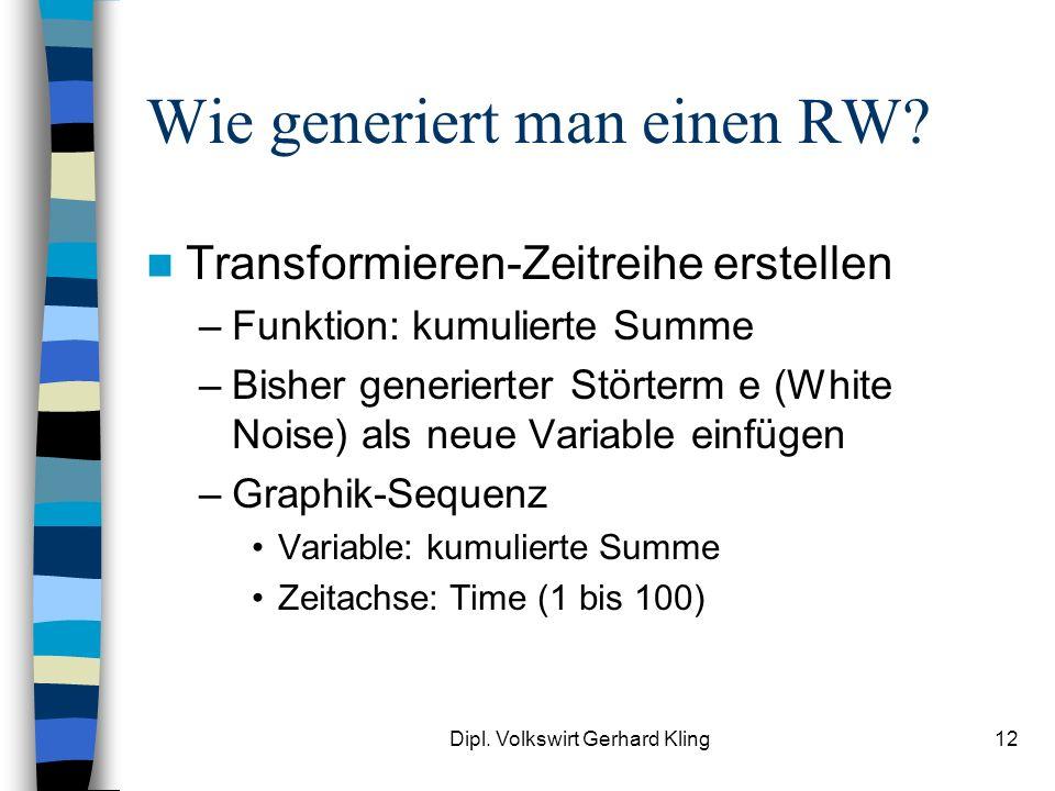 Wie generiert man einen RW