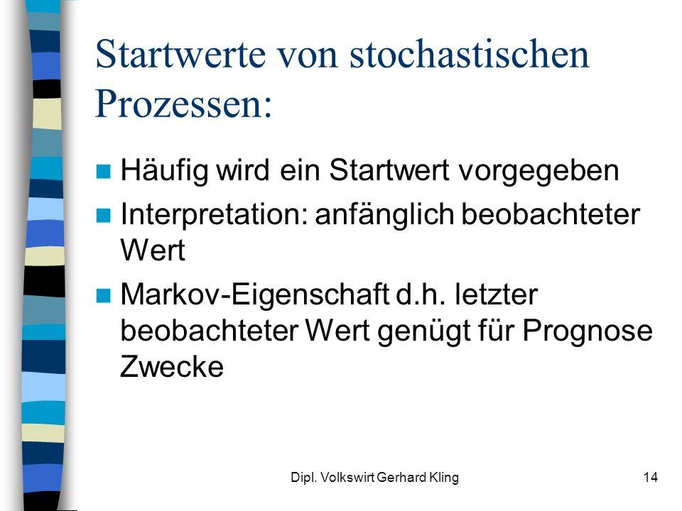 Startwerte von stochastischen Prozessen:
