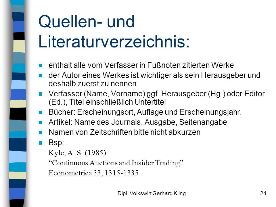 Quellen- und Literaturverzeichnis: