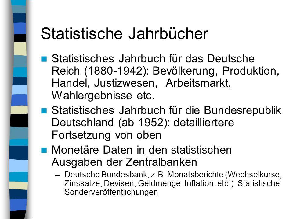 Statistische Jahrbücher