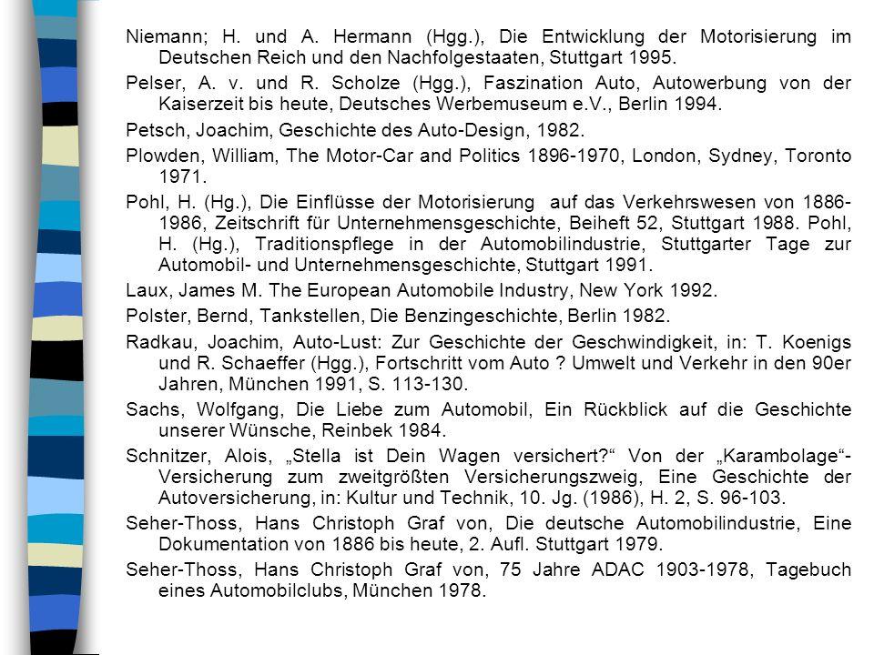 Niemann; H. und A. Hermann (Hgg