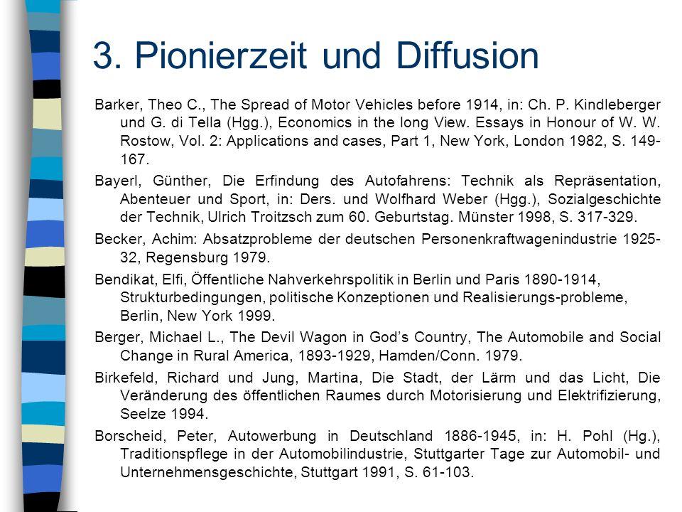 3. Pionierzeit und Diffusion