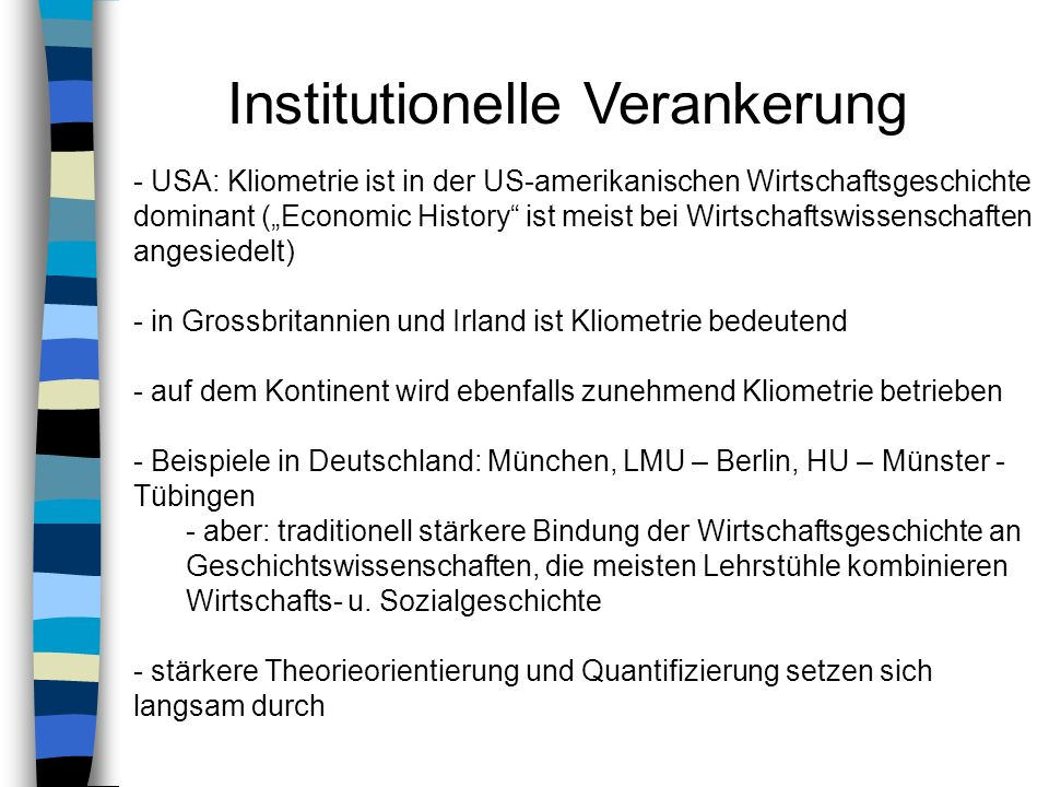 Institutionelle Verankerung