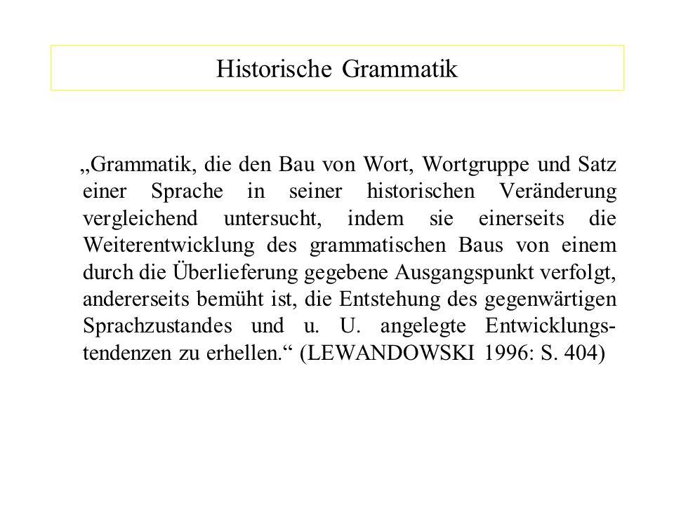 Historische Grammatik
