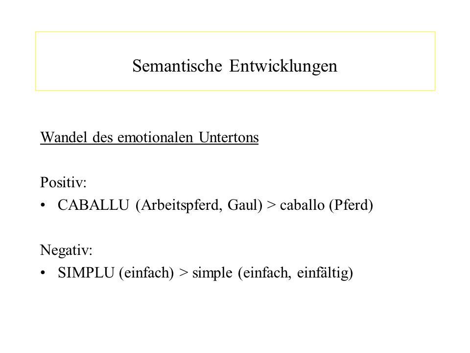 Semantische Entwicklungen
