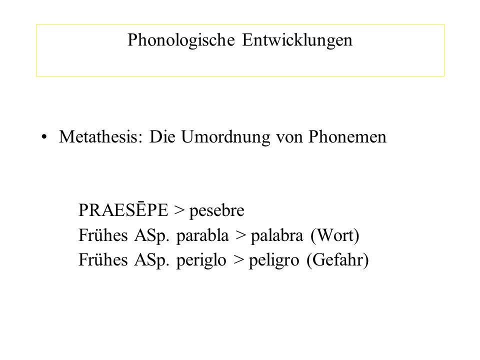 Phonologische Entwicklungen