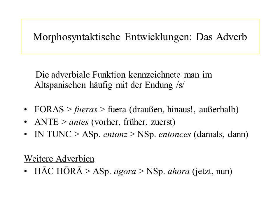 Morphosyntaktische Entwicklungen: Das Adverb