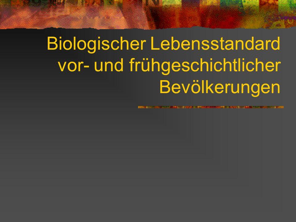 Biologischer Lebensstandard vor- und frühgeschichtlicher Bevölkerungen