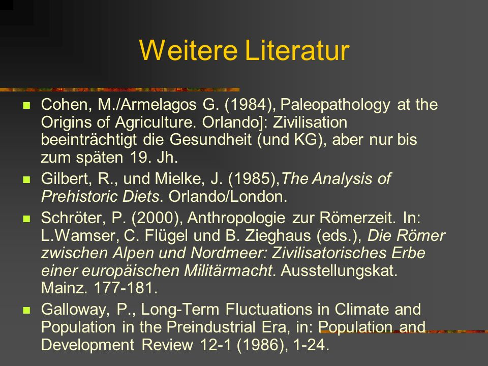 Weitere Literatur