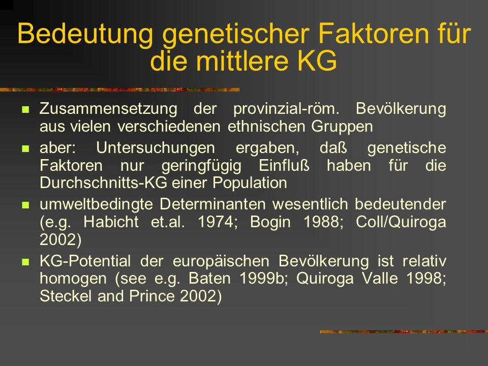 Bedeutung genetischer Faktoren für die mittlere KG