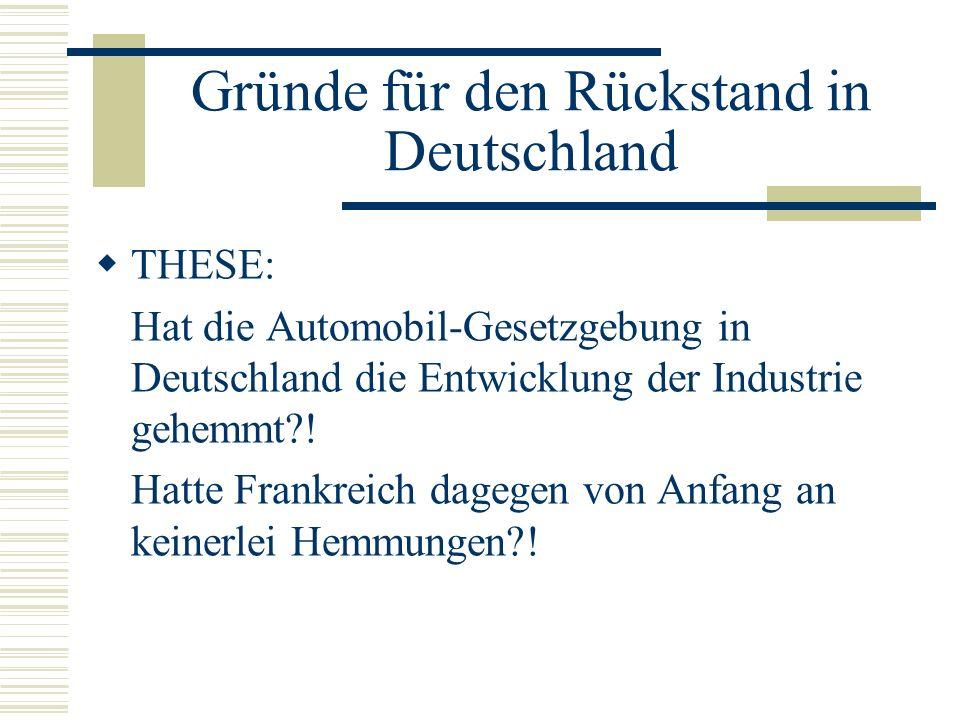 Gründe für den Rückstand in Deutschland