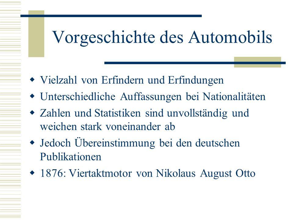 Vorgeschichte des Automobils