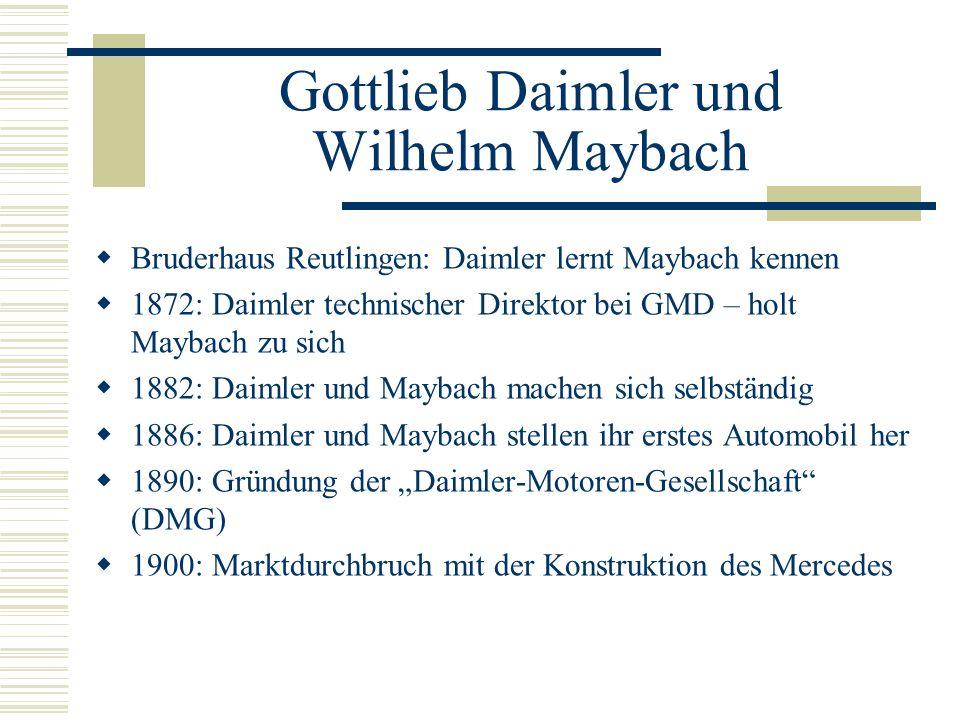 Gottlieb Daimler und Wilhelm Maybach
