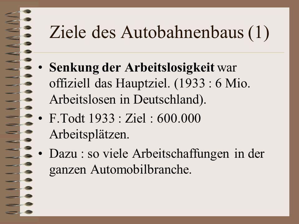 Ziele des Autobahnenbaus (1)