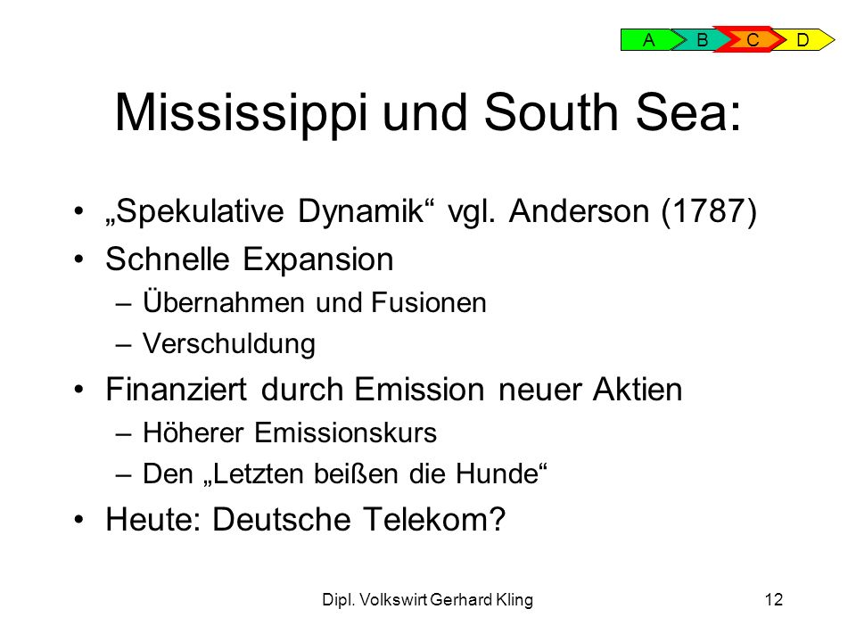 Mississippi und South Sea: