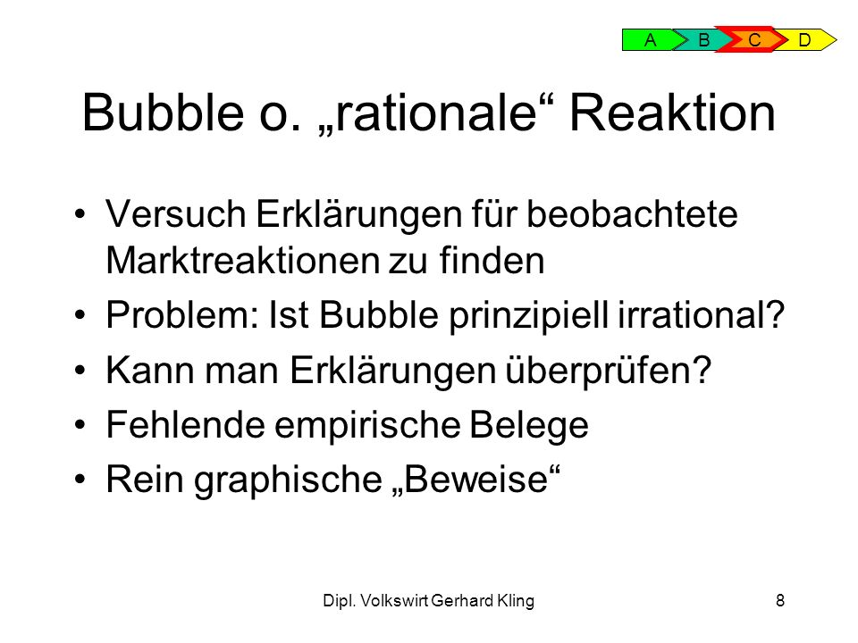 "Bubble o. ""rationale Reaktion"