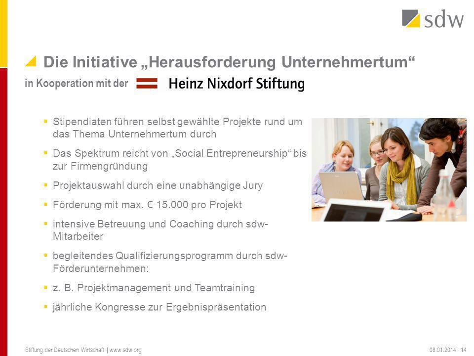 """Die Initiative """"Herausforderung Unternehmertum"""