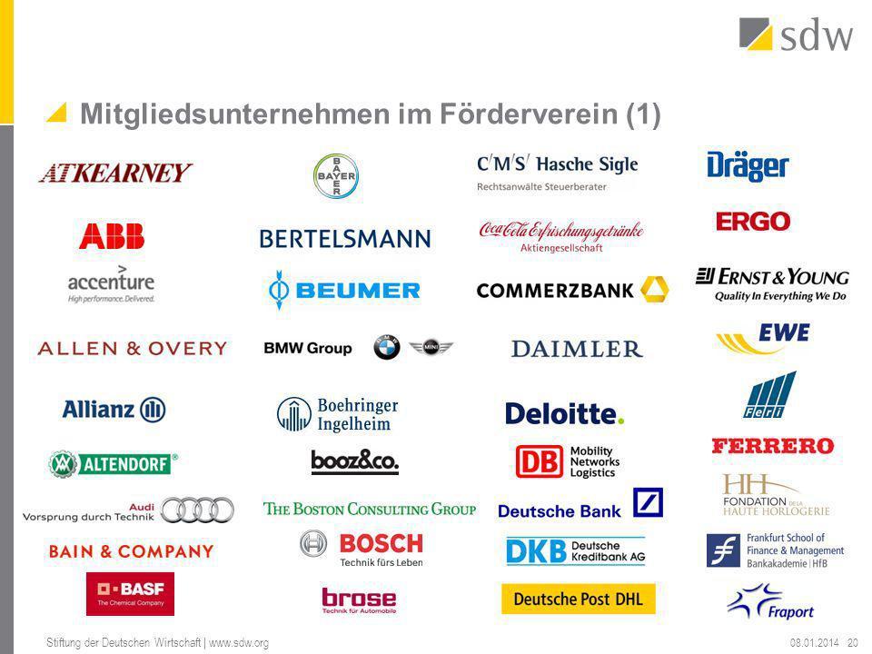 Mitgliedsunternehmen im Förderverein (1)