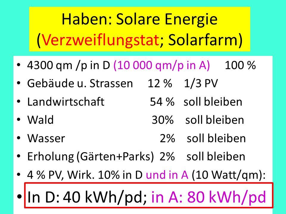 Haben: Solare Energie (Verzweiflungstat; Solarfarm)