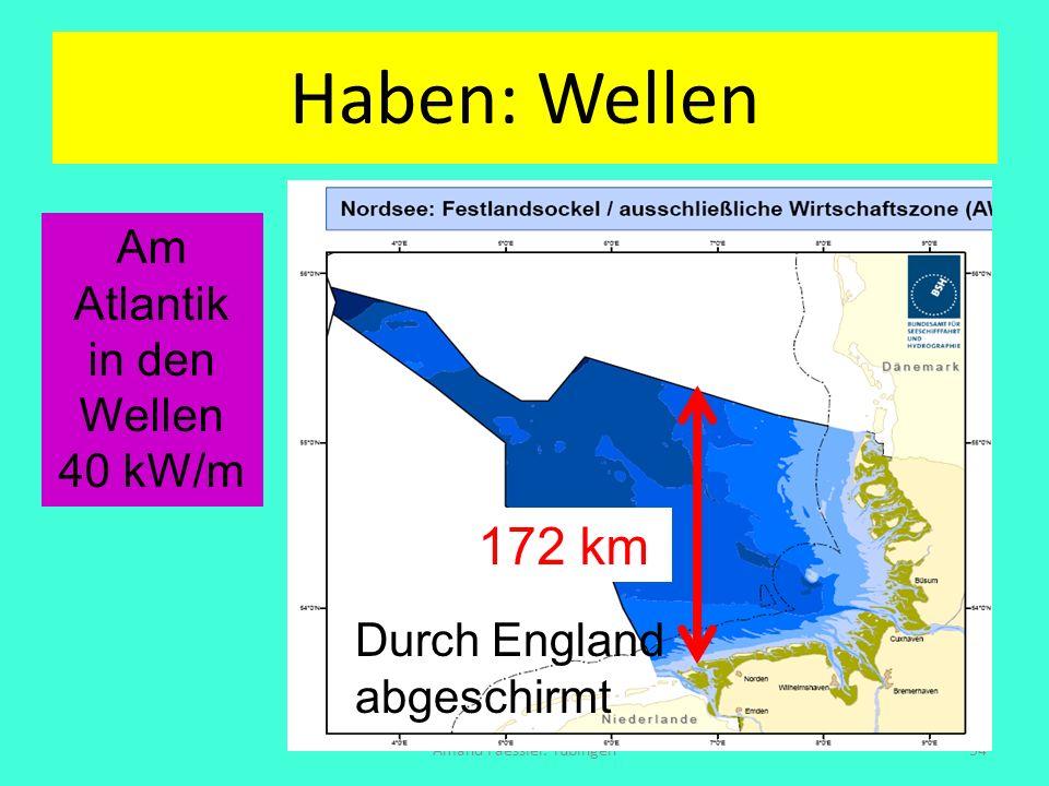 Haben: Wellen 172 km Am Atlantik in den Wellen 40 kW/m