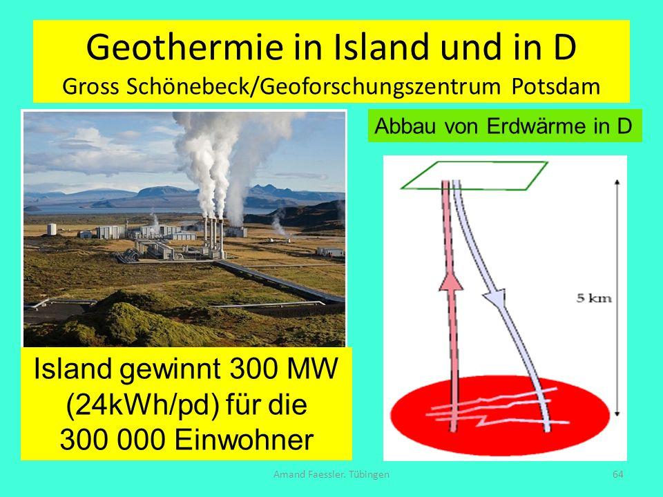 Geothermie in Island und in D Gross Schönebeck/Geoforschungszentrum Potsdam