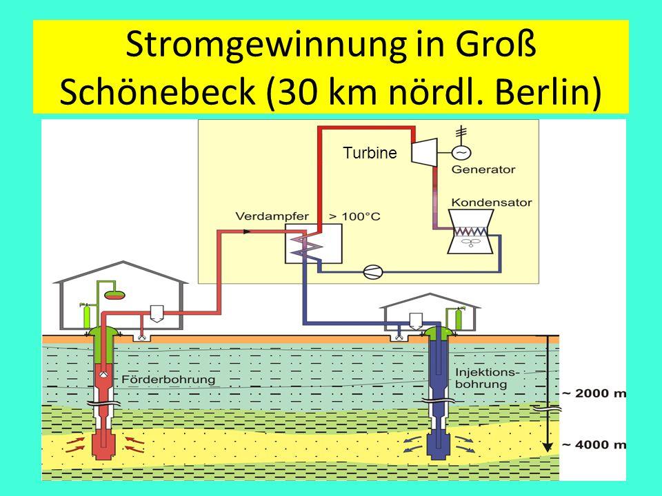 Stromgewinnung in Groß Schönebeck (30 km nördl. Berlin)