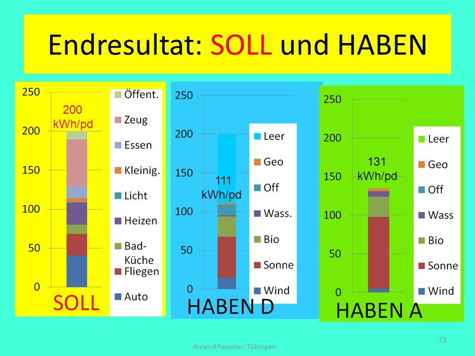 Endresultat: SOLL und HABEN