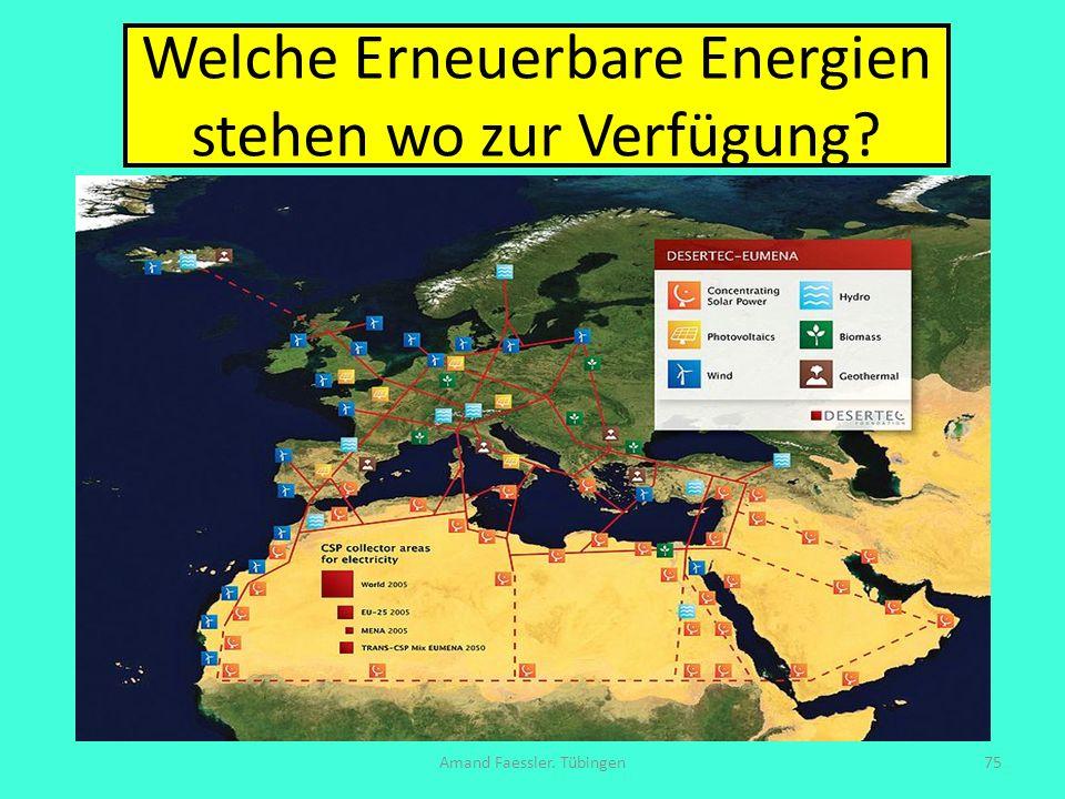 Welche Erneuerbare Energien stehen wo zur Verfügung