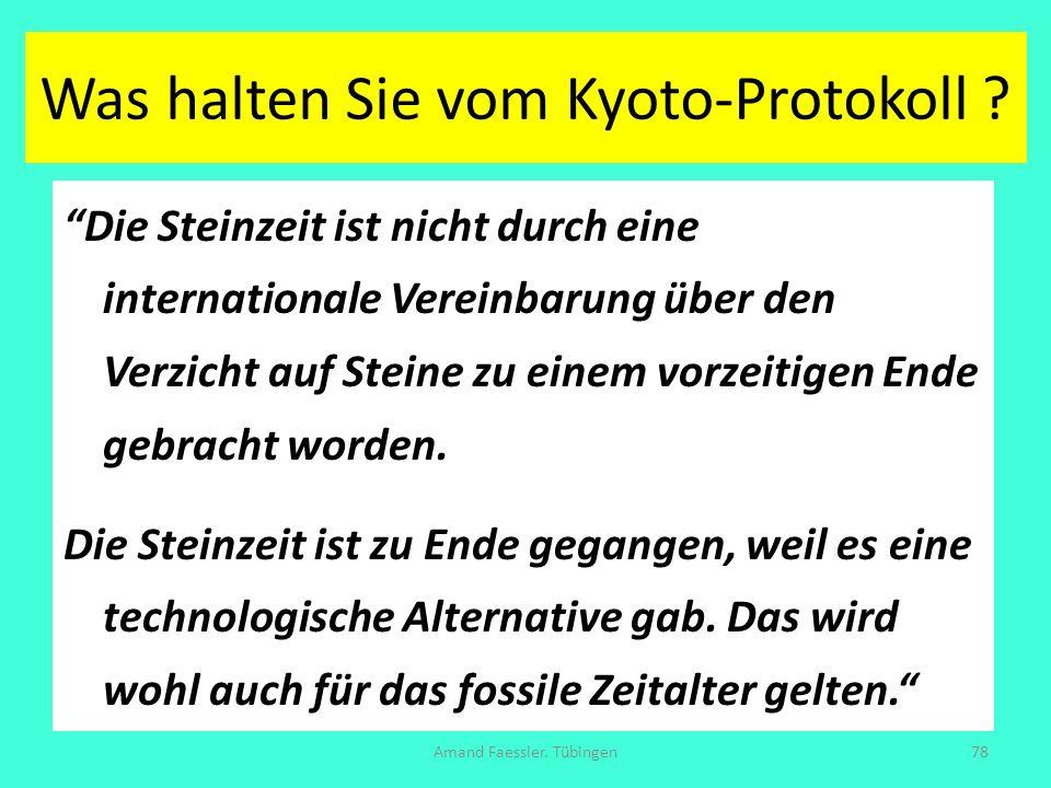 Was halten Sie vom Kyoto-Protokoll