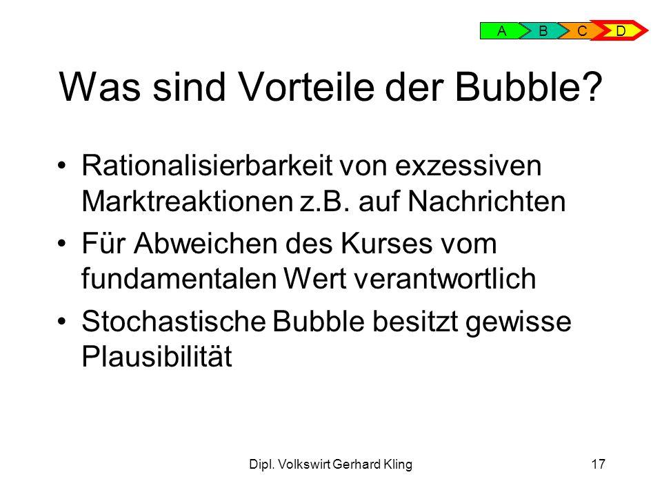 Was sind Vorteile der Bubble