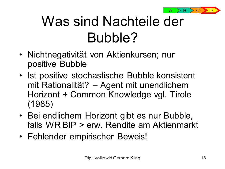 Was sind Nachteile der Bubble