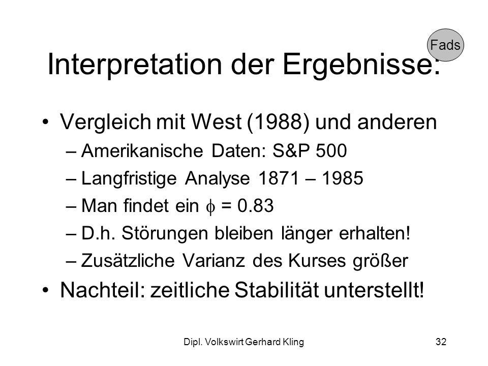 Interpretation der Ergebnisse: