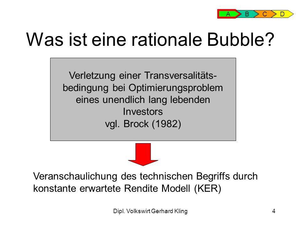 Was ist eine rationale Bubble