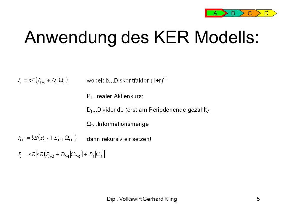Anwendung des KER Modells: